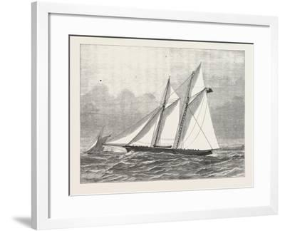 The Prince of Wales's Yacht, Hildedegarde, 1876, UK--Framed Giclee Print