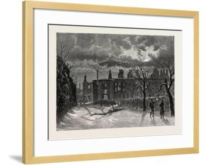 Franco-Prussian War: Ruins of the Palace of Saint-Cloud--Framed Giclee Print