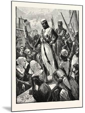 Reception of Richard on His Return from the Continent--Mounted Giclee Print