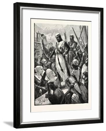 Reception of Richard on His Return from the Continent--Framed Giclee Print