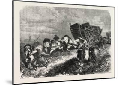 Franco-Prussian War: German Soldiers Battle of Paris 1870--Mounted Giclee Print
