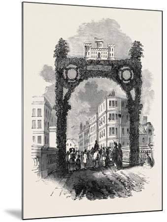 Arch on the New Brig of Ayr, Bridge, the Burns Festival--Mounted Giclee Print