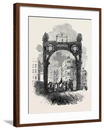 Arch on the New Brig of Ayr, Bridge, the Burns Festival--Framed Giclee Print
