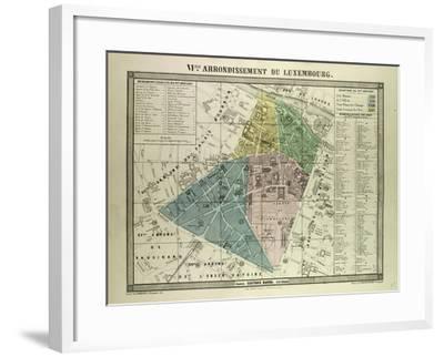 Map Of Paris France 6th Arrondissement.Map Of The 6th Arrondissement Du Luxembourg Paris France Giclee Print By Art Com