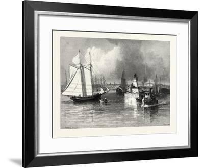The Harbour-Mouth, Cobourg, Canada, Nineteenth Century--Framed Giclee Print