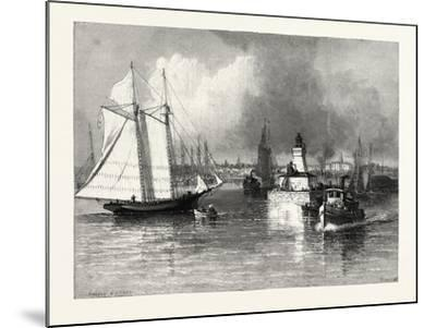 The Harbour-Mouth, Cobourg, Canada, Nineteenth Century--Mounted Giclee Print