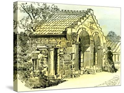 Aberdeen Summer House in Dee Street 1885 UK--Stretched Canvas Print