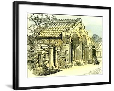 Aberdeen Summer House in Dee Street 1885 UK--Framed Giclee Print