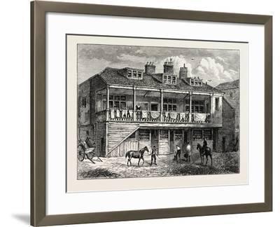 Yard of the Black Lion Whitefriars London--Framed Giclee Print