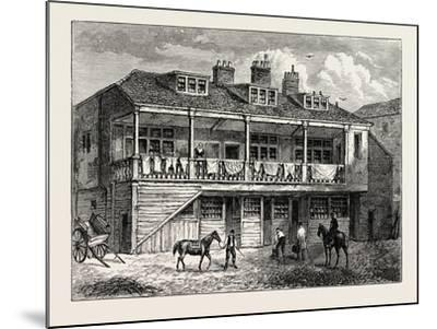Yard of the Black Lion Whitefriars London--Mounted Giclee Print