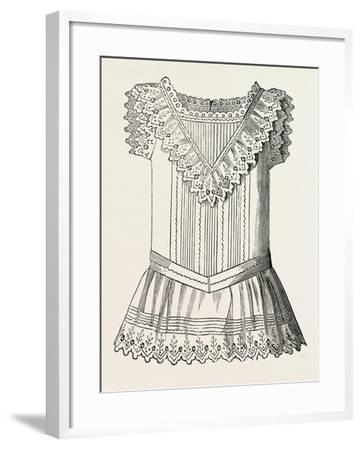 Pinafore for Girl of Three, Front, 1882, Fashion--Framed Giclee Print