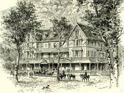 The Stoneman House Yosemite Valley 1891, USA--Framed Giclee Print
