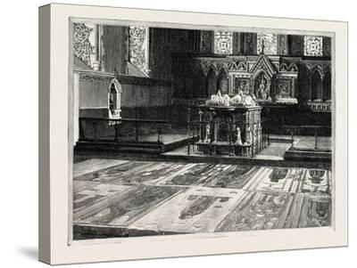 Cobham: the Chancel, with Altar-Tomb and Brasses--Stretched Canvas Print