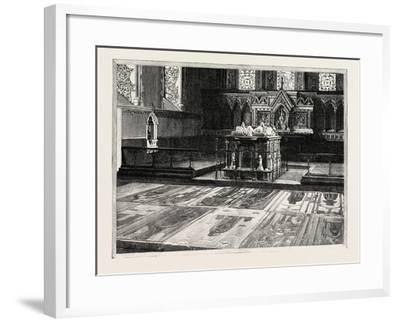 Cobham: the Chancel, with Altar-Tomb and Brasses--Framed Giclee Print