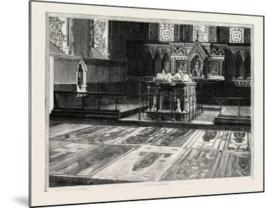 Cobham: the Chancel, with Altar-Tomb and Brasses--Mounted Giclee Print