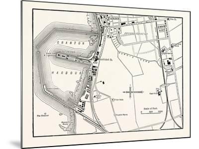 Edinburgh: Map of Granton and Neighbourhood--Mounted Giclee Print