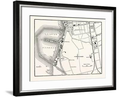 Edinburgh: Map of Granton and Neighbourhood--Framed Giclee Print