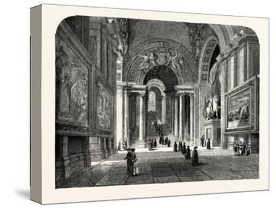 The Scala Regia of the Vatican. Rome Italy--Stretched Canvas Print