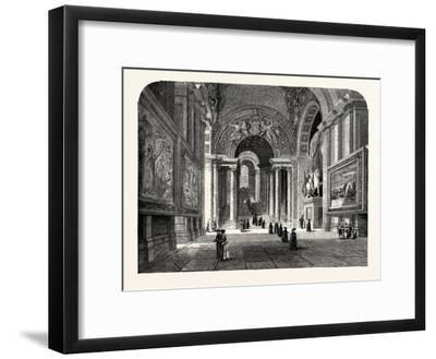 The Scala Regia of the Vatican. Rome Italy--Framed Giclee Print