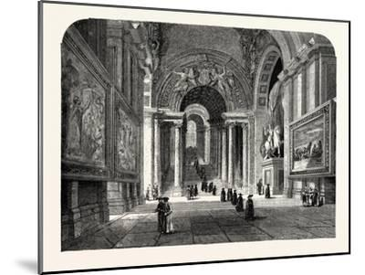 The Scala Regia of the Vatican. Rome Italy--Mounted Giclee Print
