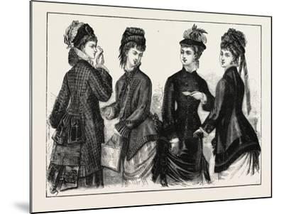 The Fashions: Ladies Cloaks for Autumn, 1876, UK--Mounted Giclee Print