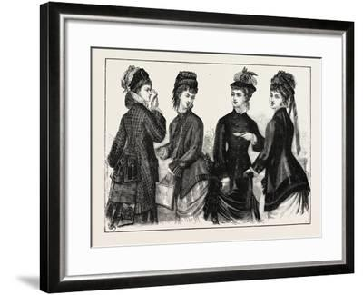 The Fashions: Ladies Cloaks for Autumn, 1876, UK--Framed Giclee Print