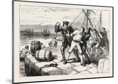 Impressment of Bostonians by Knowles, USA, 1870S--Mounted Giclee Print