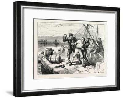 Impressment of Bostonians by Knowles, USA, 1870S--Framed Giclee Print