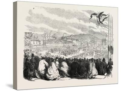 Vinedressers' Fete at Vevey, Switzerland, 1865--Stretched Canvas Print