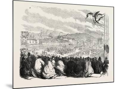 Vinedressers' Fete at Vevey, Switzerland, 1865--Mounted Giclee Print