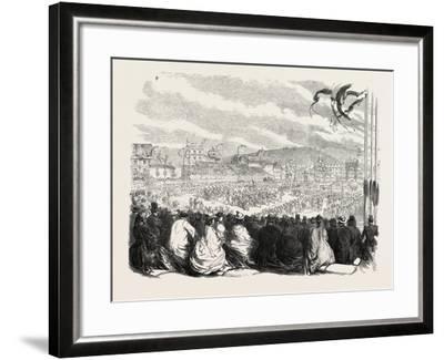 Vinedressers' Fete at Vevey, Switzerland, 1865--Framed Giclee Print