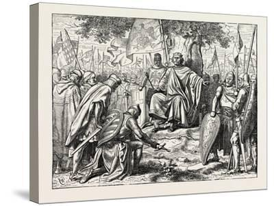 Henry I. Receiving the Homage of Vassal Chiefs--Stretched Canvas Print