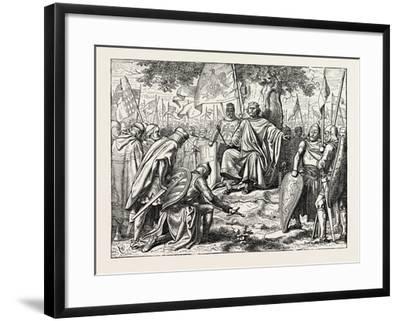 Henry I. Receiving the Homage of Vassal Chiefs--Framed Giclee Print