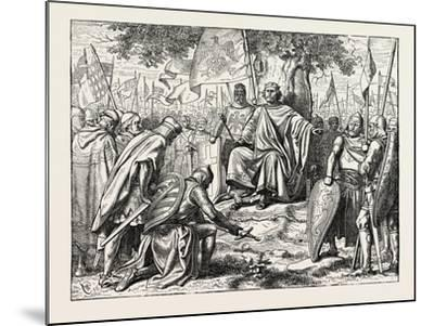 Henry I. Receiving the Homage of Vassal Chiefs--Mounted Giclee Print