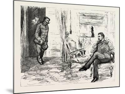 A Visit to Admiral Gervais on Board His Ship--Mounted Giclee Print