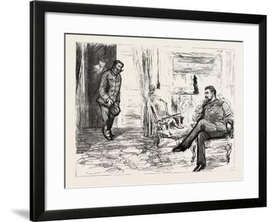 A Visit to Admiral Gervais on Board His Ship--Framed Giclee Print