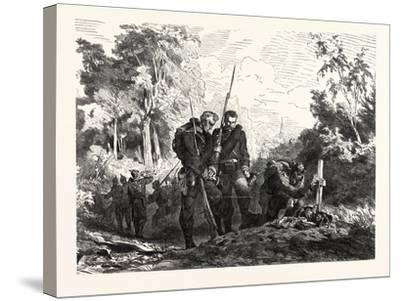 Franco-Prussian War: before Marching Further--Stretched Canvas Print
