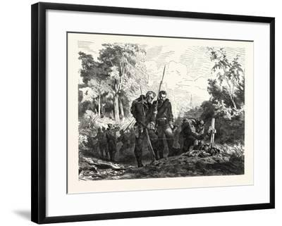 Franco-Prussian War: before Marching Further--Framed Giclee Print