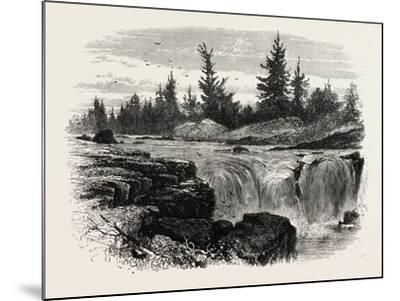 Falls of the Passaic, New Jersey, USA, 1870s--Mounted Giclee Print