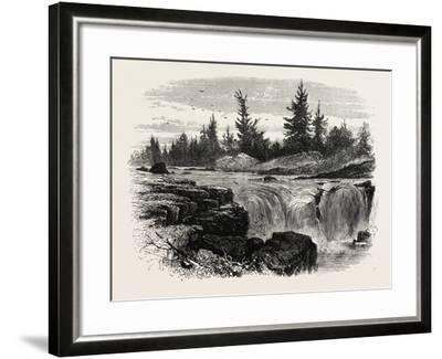 Falls of the Passaic, New Jersey, USA, 1870s--Framed Giclee Print
