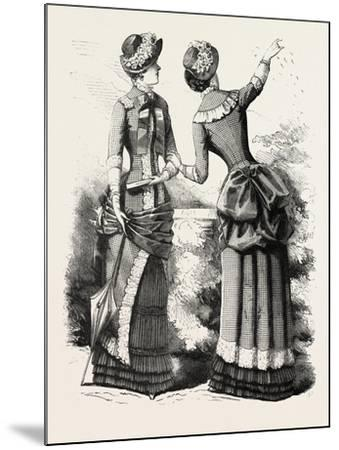 Autumn Costume Front and Back, Fashion, 1882--Mounted Giclee Print