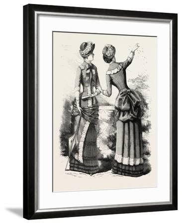 Autumn Costume Front and Back, Fashion, 1882--Framed Giclee Print