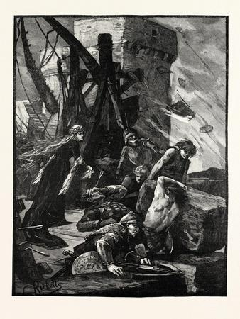 Black Agnes at the Siege of Dunbar Castle--Framed Giclee Print