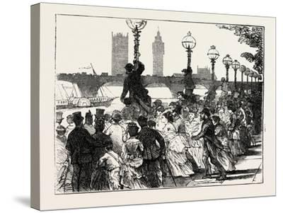 The Rush on the Embankment, London, UK, 1873--Stretched Canvas Print