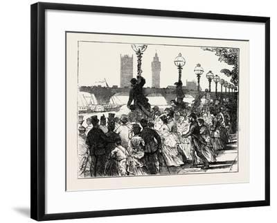 The Rush on the Embankment, London, UK, 1873--Framed Giclee Print