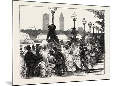 The Rush on the Embankment, London, UK, 1873--Mounted Giclee Print