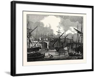 Hull, in Yorkshire. View of the North Bridge. Uk--Framed Giclee Print