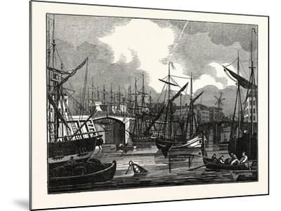 Hull, in Yorkshire. View of the North Bridge. Uk--Mounted Giclee Print