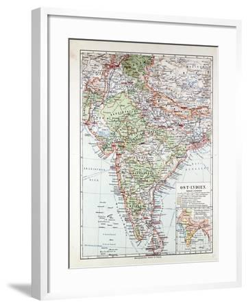 Map of India Pakistan and Tibet 1899--Framed Giclee Print