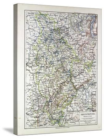 Map of the Rheinprovinz Germany 1899--Stretched Canvas Print